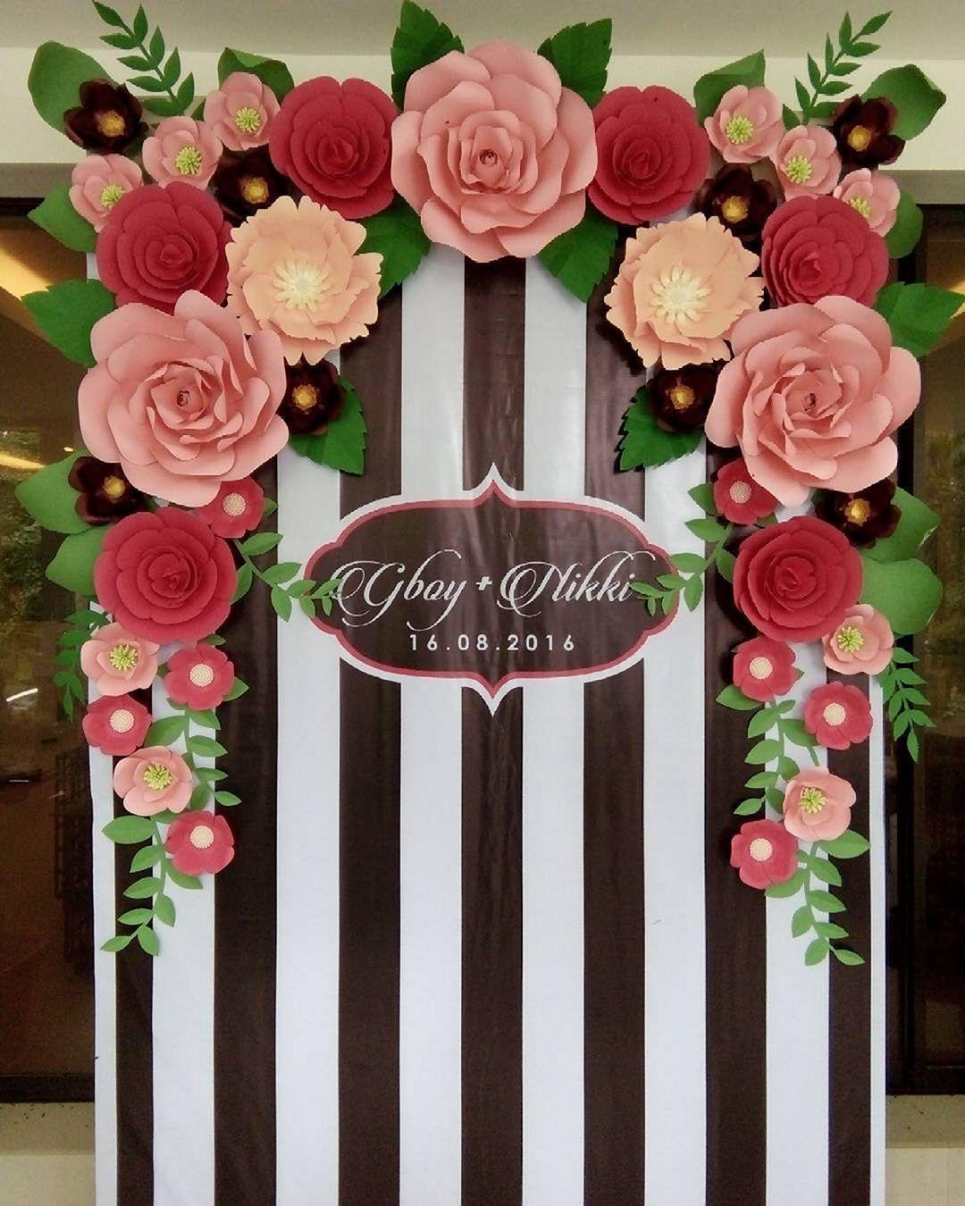 Beautiful Paper Flower Backdrop Wedding Ideas 11 Paper Flower
