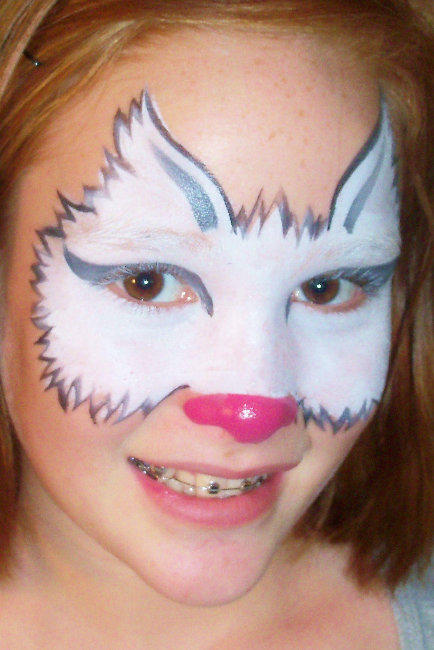 Uncategorized Cat Paint Face white cat mask face paint fancy faces okc designs okc