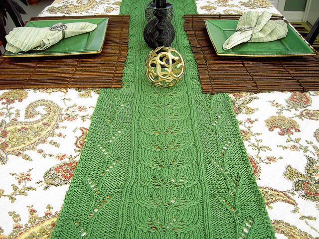 Meadowood Table Runner pattern by Jennifer Hagan | Knitting House ...