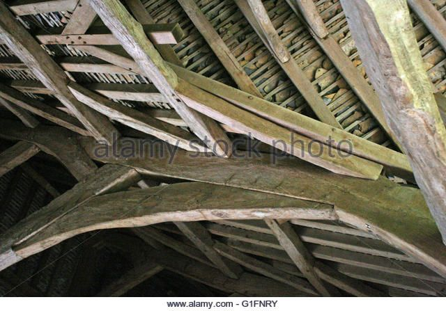 English Medieval Roofing In Bradford On Avon Tithe Barn Wiltshire Stock Image With Images Traditional Building Timber Frame Homes Barn Stables