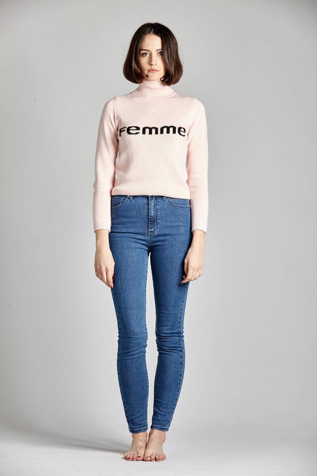 Femme Pink Turtleneck Sweater | L'école Des Femmes | Spring/Summer ...