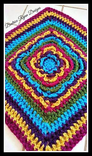 Ravelry Rainbow Burst Reversible Granny Square Pattern By Beatrice