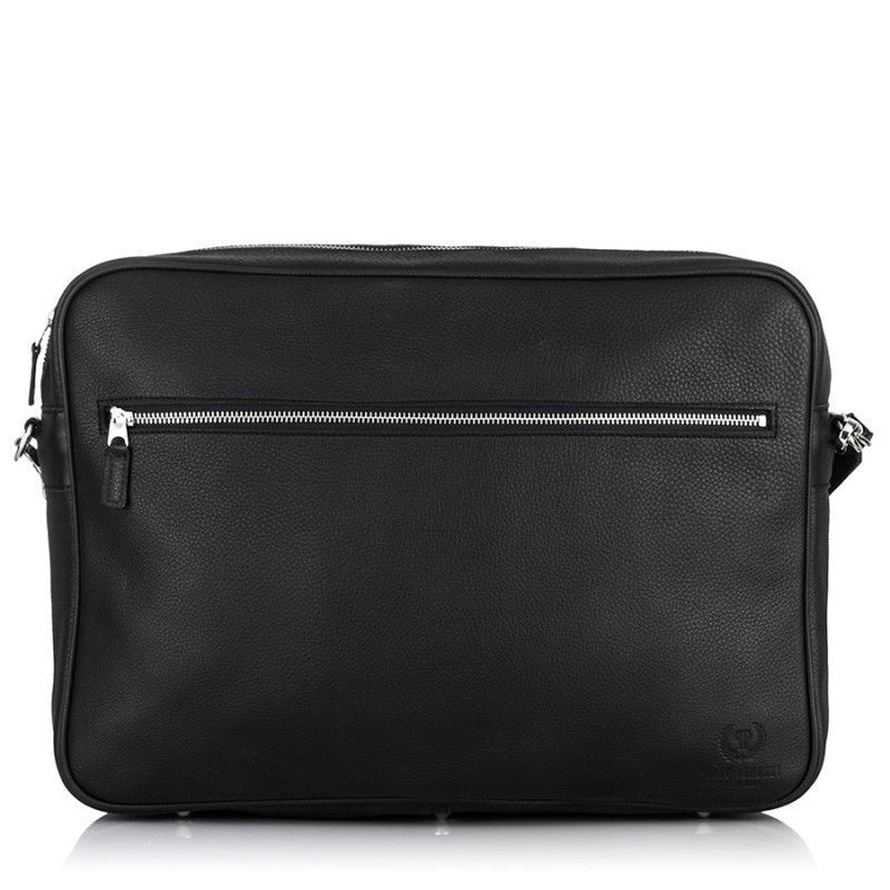 e17659fdf500 LEATHER BLACK SHOULDER BAG PAOLO PERUZZI ON THE LAPTOP 95-C-PP  fashion   clothing  shoes  accessories  mensaccessories  bags (ebay link)