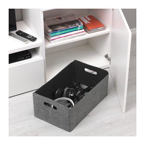 Best box grey 32 x 51 x 21 cm stauraum for Ikea schachteln