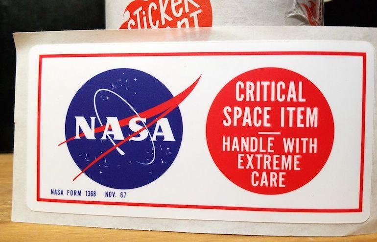 Even NASA Critical Space Items Need Stickers Nasa