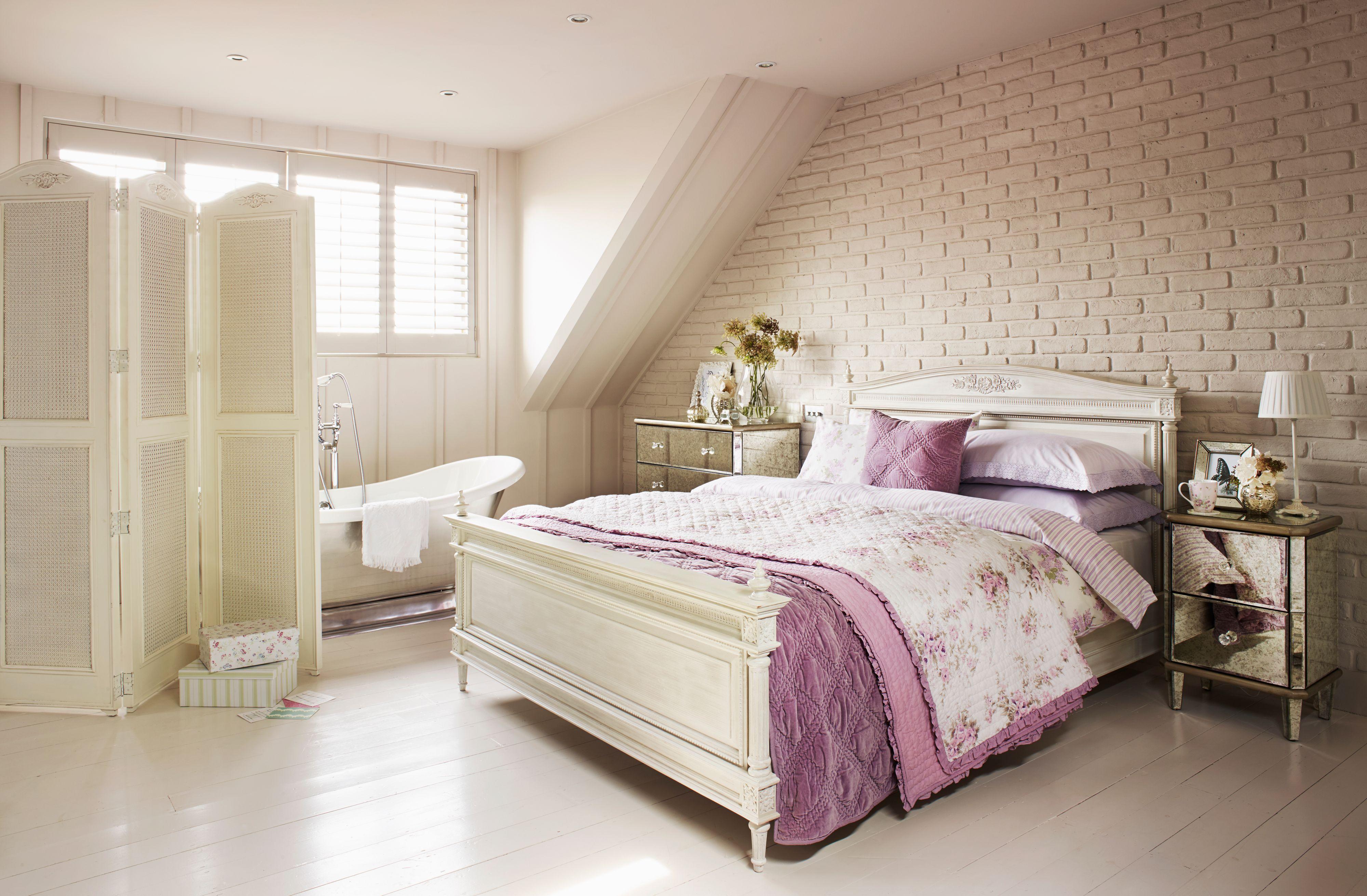 Ein Stück Lavendel Schlafzimmer Außergewöhnliche Dekoration Lila ...