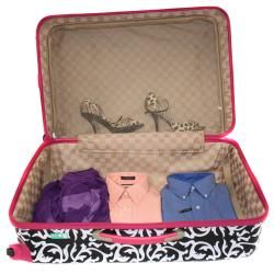 @Overstock - This fashion-forward pink and damask three-piece spinner luggage set will have you travelling the world over in style. Features hard-side construction with 360-degree spinner wheels on each piece. Mesh compartments inside give you all the space you need.http://www.overstock.com/Luggage-Bags/World-Traveler-Designer-Prints-Pink-Trim-Damask-3-piece-Lightweight-Hardside-Spinner-Luggage-Set/6677747/product.html?CID=214117 $175.99