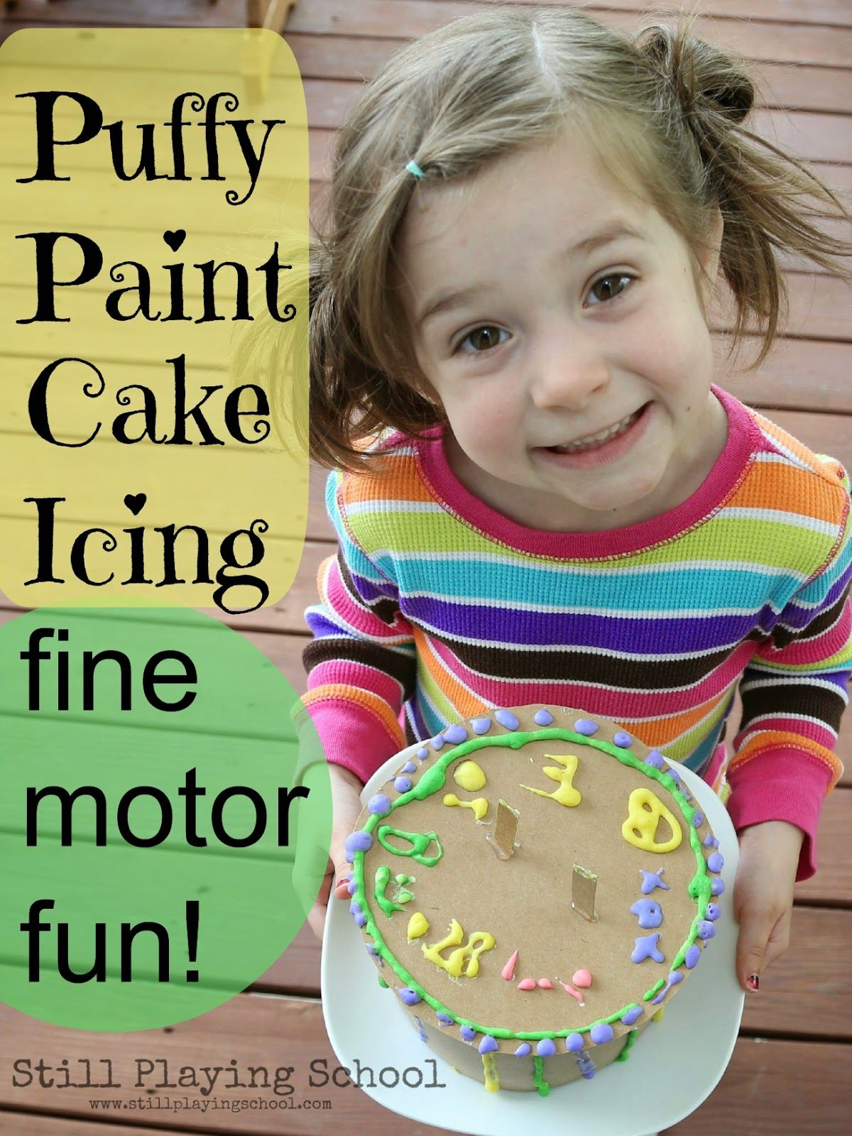 Puffy Paint Cake Decorating