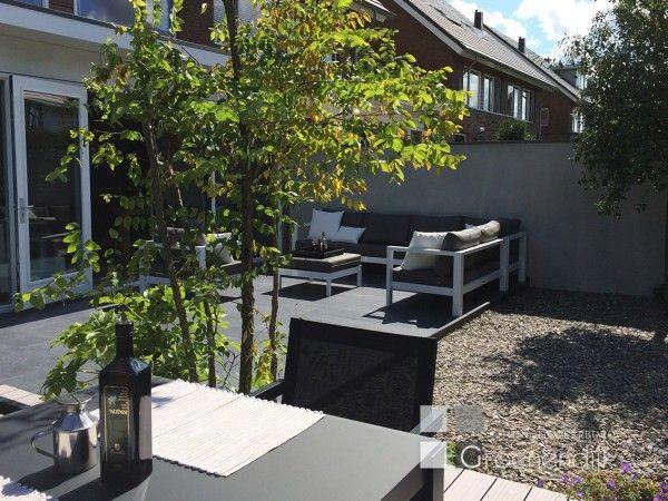 Kleine moderne tuin in reeuwijk tuin garden pinterest for Moderne kleine tuin