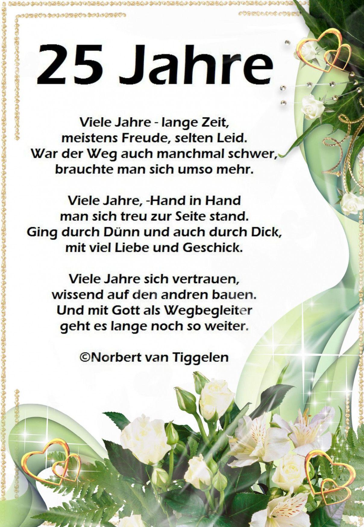 Gedichte Zur Silbernen Hochzeit in 2020 | Silberhochzeit ...