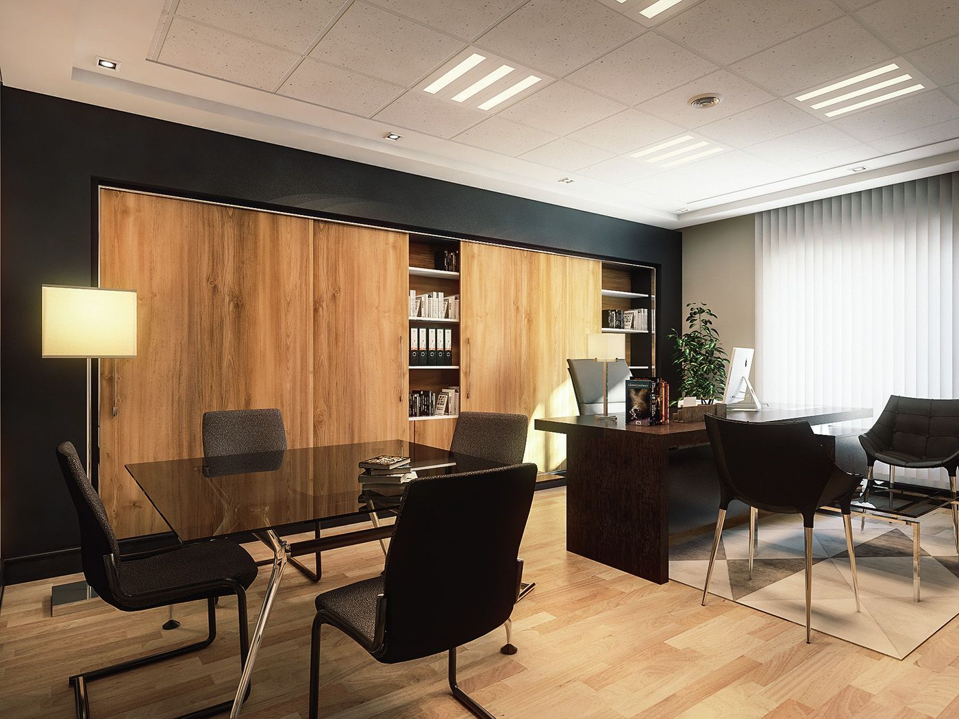 Tewes design nyc executive office seattle interior design - Ceo Office On Behance