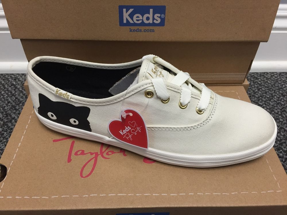 27012fba3e3 Keds Women s Taylor Swift Champion Sneaky Cat Sneaker  WF53208 Cream Black   Keds  Casual