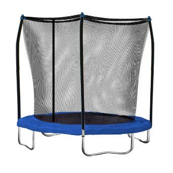 158 Amazon Com Indoor Trampolines 8 Ft Round Trampoline And Enclosure With Blue Spring Pad Kids Trampoline Best Trampoline Backyard Trampoline