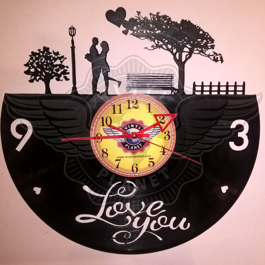 Vinyl Wall Clock LOVE - Be my valentine | www.vinylplanetart.com ...