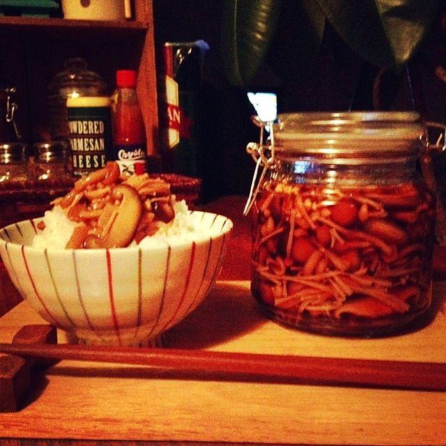 立派な椎茸が手に入ったので✌  ハンバーグもまだあるんだけど…飽きたから今日はコレで! - 652件のもぐもぐ - 自家製なめたけ。 by cocoatea