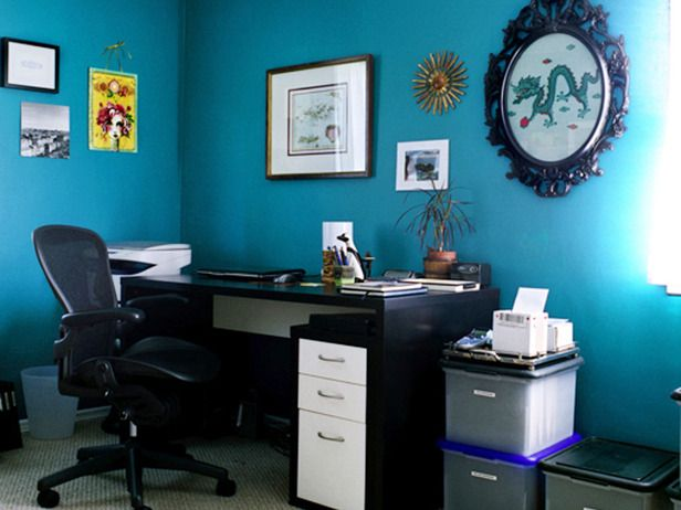 Pleasing Blue Home Office Ideas Edeprem Com Largest Home Design Picture Inspirations Pitcheantrous