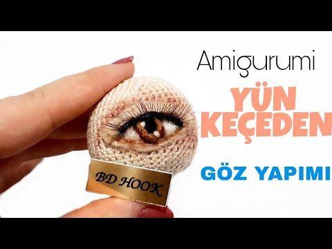 Amigurumi Yün Keçeden Göz Yapımı-Needle Felting Eyes On Amigurumi - YouTube #dollscouture