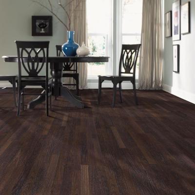 Mohawk Bayhill Ebony Teak 8 Mm Thick X 7 1 2 In Width X 47 1 4 In Length Laminate Flooring Dark Laminate Floors Mohawk Laminate Flooring Flooring