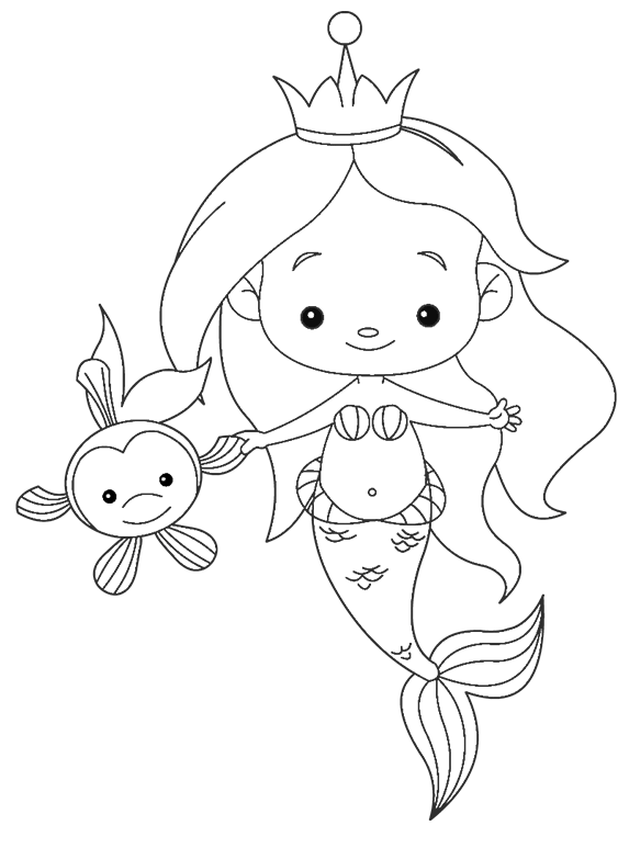 sts clipart 4 misc mermaid coloring