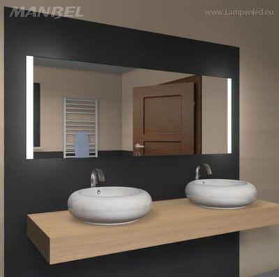 spiegel badezimmer bad beleuchtet beleuchtung led