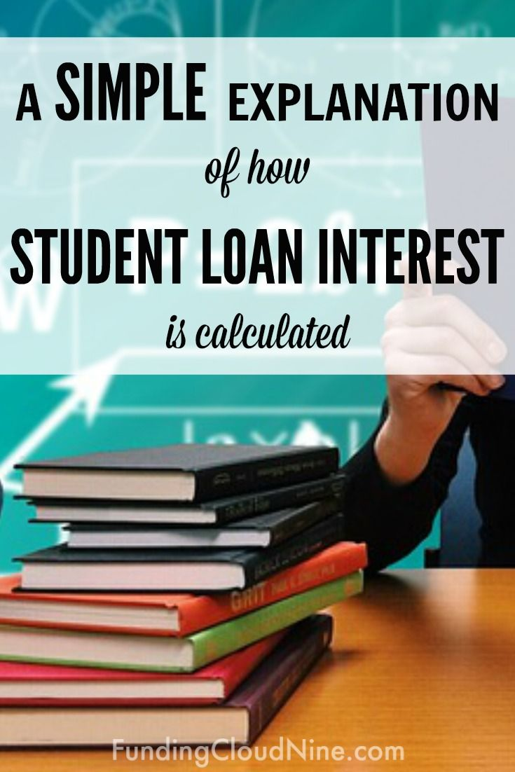 A Simple Explanation Of How Student Loan Interest Is Calculated Student Loan Interest Student Loans Apply For Student Loans
