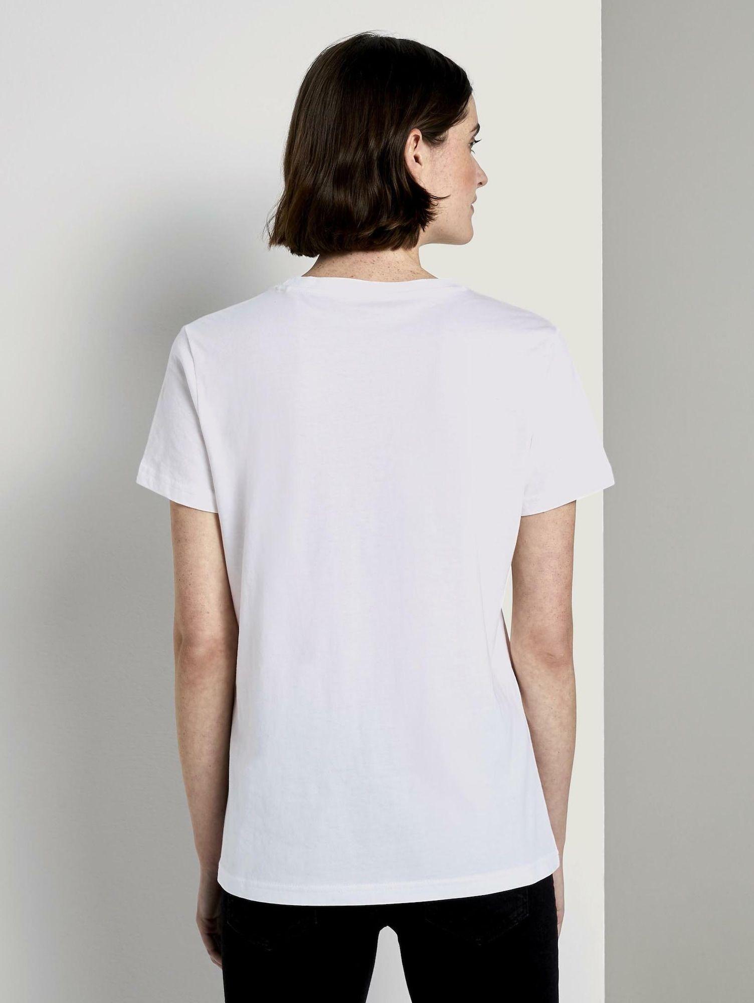 Tom Tailor T Shirt Damen Weiss Grosse Xxxl In 2020 T Shirt Damen Shirts Und T Shirt