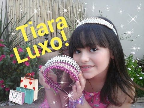 Tiara com Manta de Pérolas e Strass - Tiara luxury pearls and rhinestones - YouTube