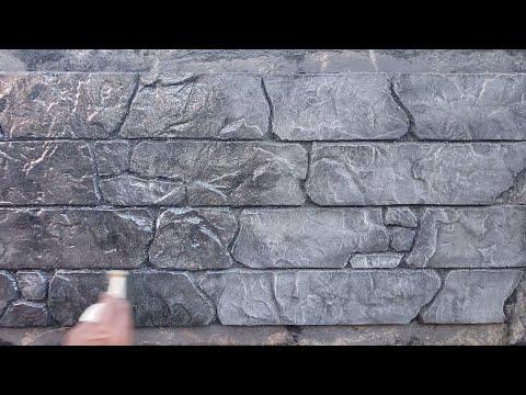 Cómo Hacer Piedra Artificial Negra Y Brillosa Para Decorar Tus Fachadas Yout Muros De Piedra De Imitación Molduras De Concreto Chimeneas De Ladrillo Pintadas