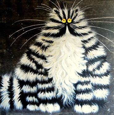 """Bert'' by Kim Haskins Whimsical cats"