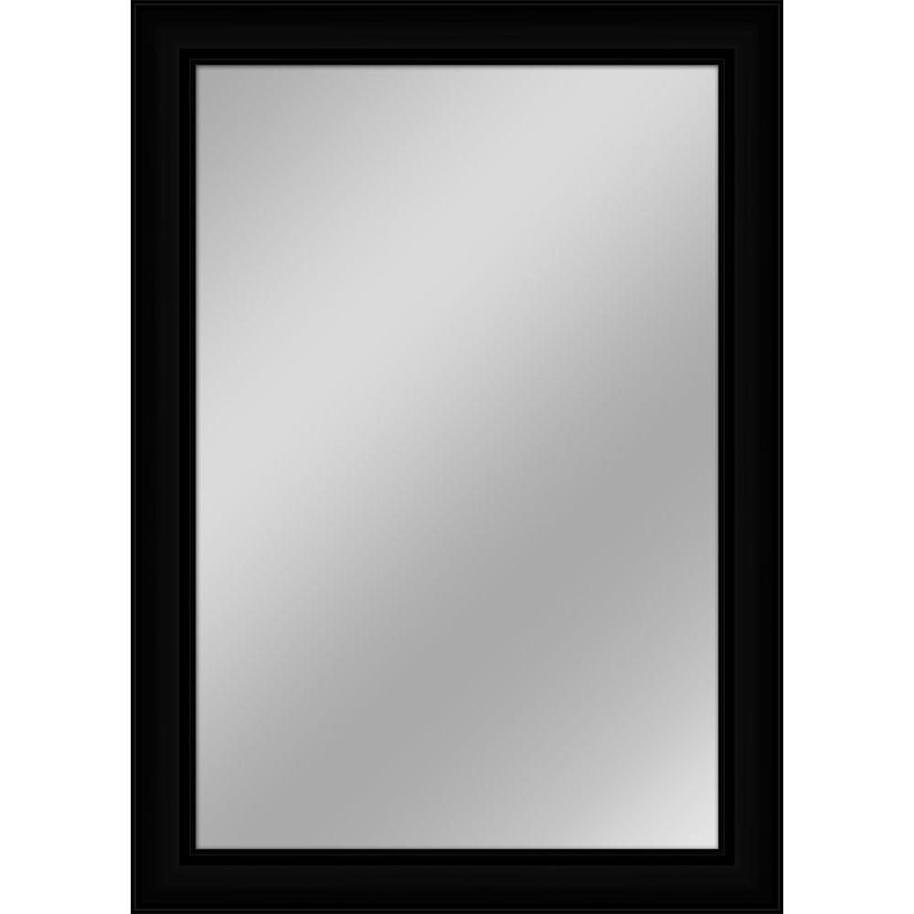 Large Rectangle Black Contemporary Mirror 42 In H X 30 In W F7643r B The Home Depot Framed Mirror Wall Black Wall Mirror Mirror Wall
