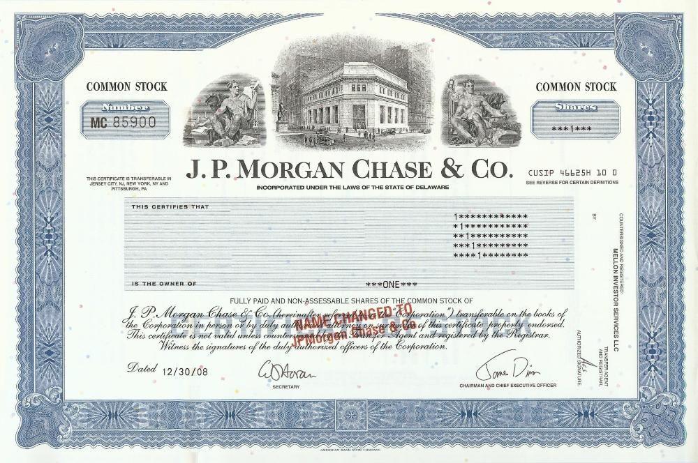B F Goodrich Company stock certificate Original Stock - blank stock certificate template