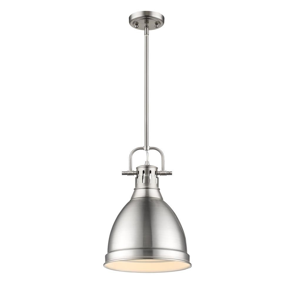 Golden Lighting PWRD Duncan CH One Light Mini Pendant Pewter Finish With Red Glass Clicking On The VISIT Button Will Lead You To Find Similar Product