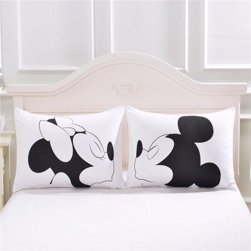 Mickey mouse coraz n cuerpo funda de almohada de algod n for El universo del hogar ropa de cama
