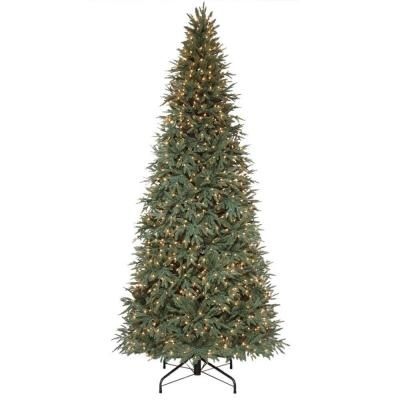 10 Ft Pre Lit Meadow Fir Quick Set Artificial Christmas Tree With Surebright Clear Lights Meat6 Christmas Tree Clear Lights Christmas Tree 9ft Christmas Tree