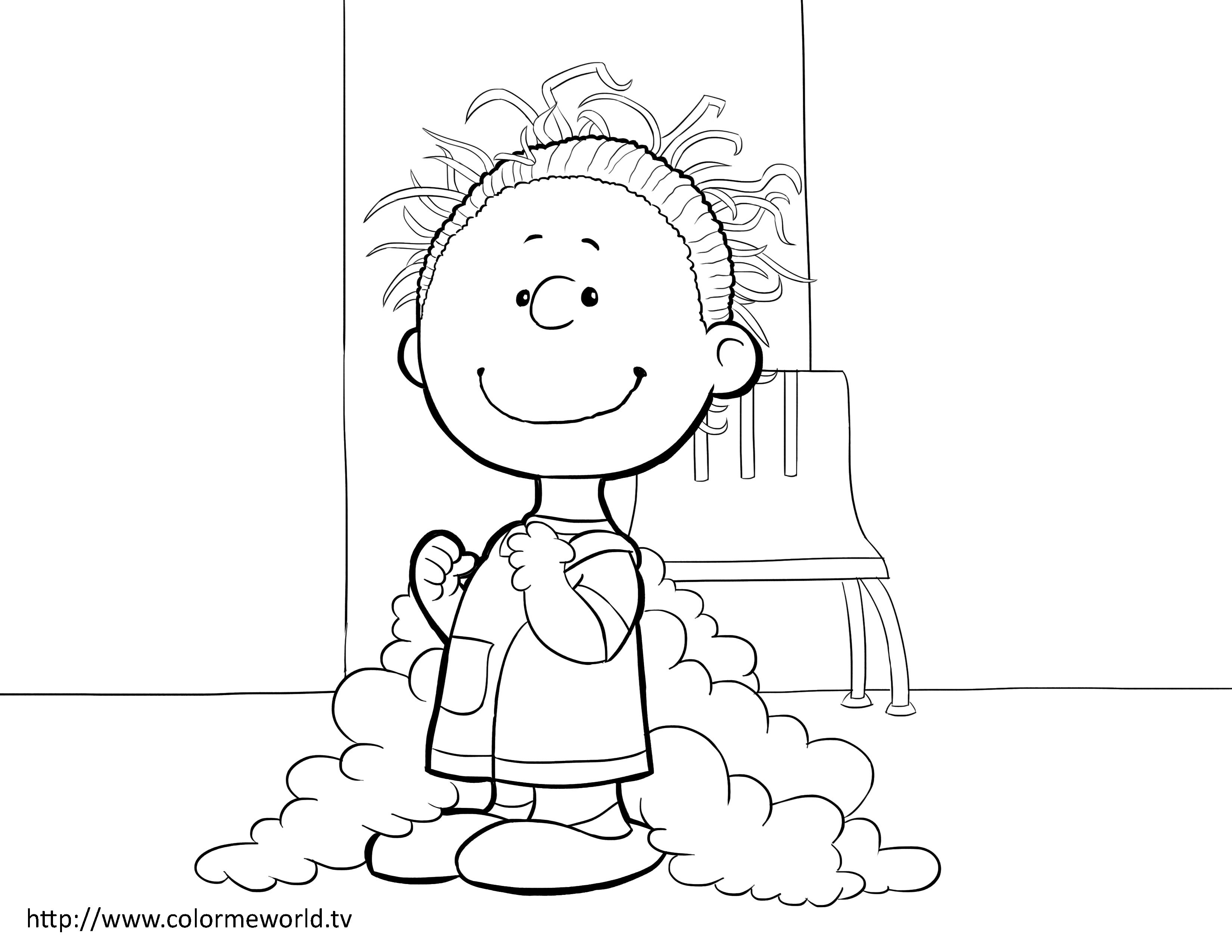 Pig Pen Pdf Printable Coloring Page Peanuts Coloring Pages