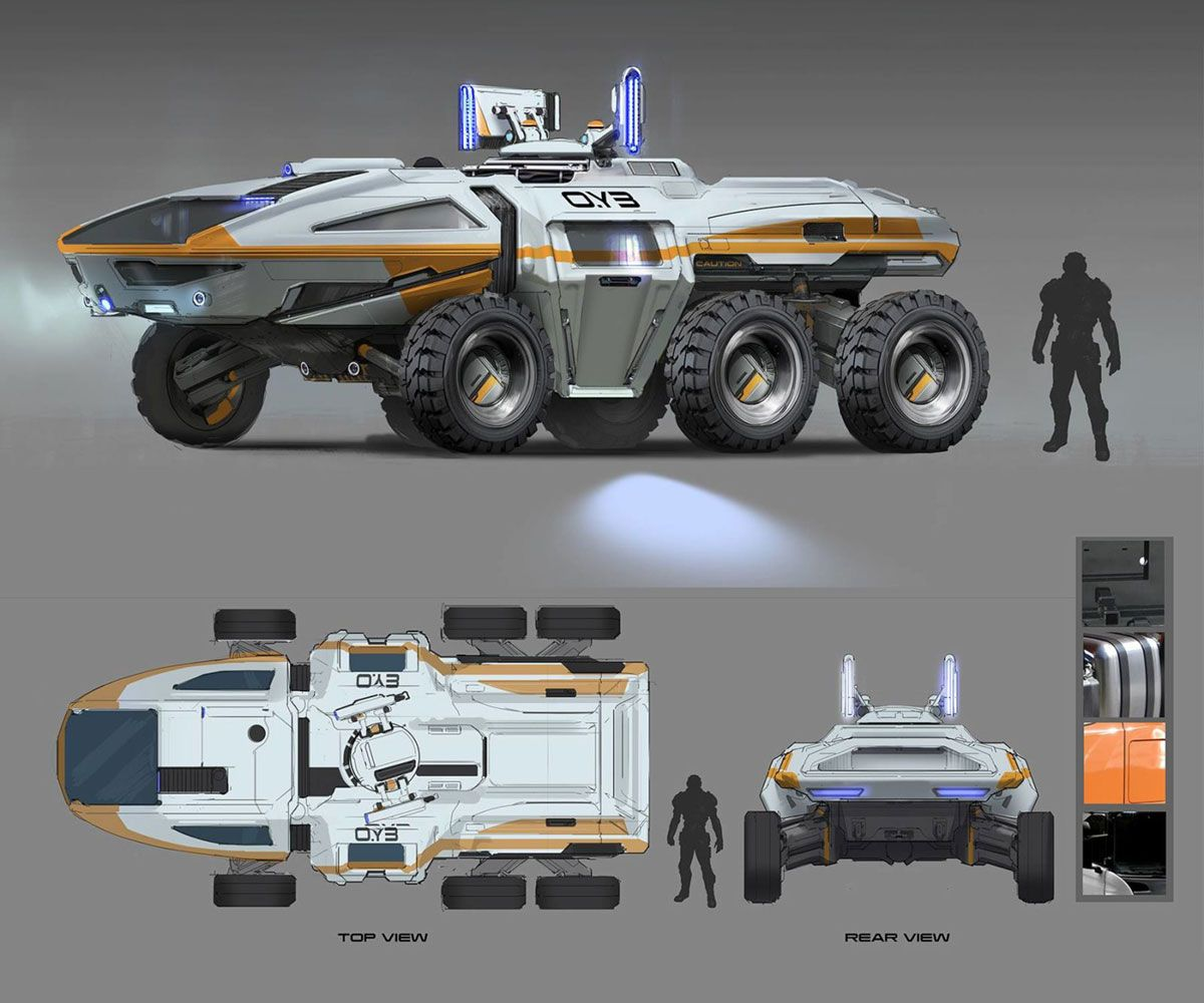 Human Land Vehicle From Mass Effect: Andromeda