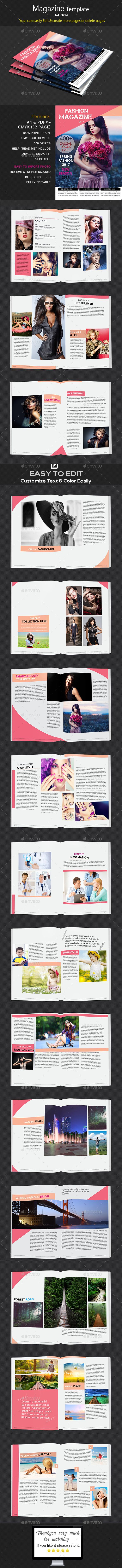 32 Page InDesign Magazine A4
