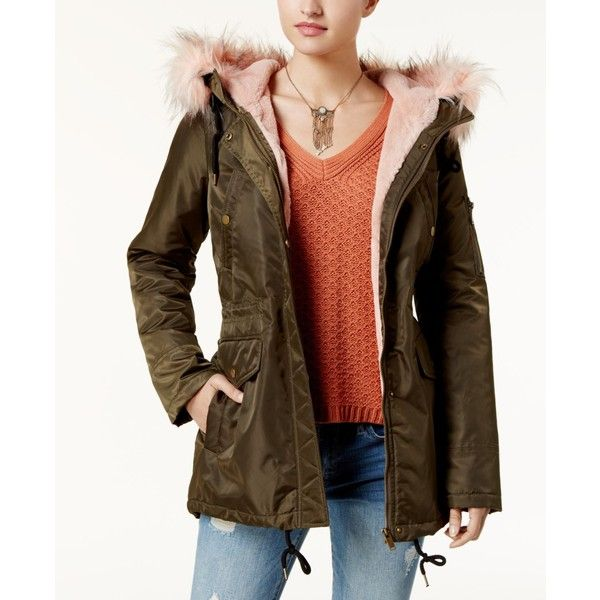 e21213867f9 American Rag Juniors' Faux-Fur-Trim Hooded Parka, Created for Macy's ...