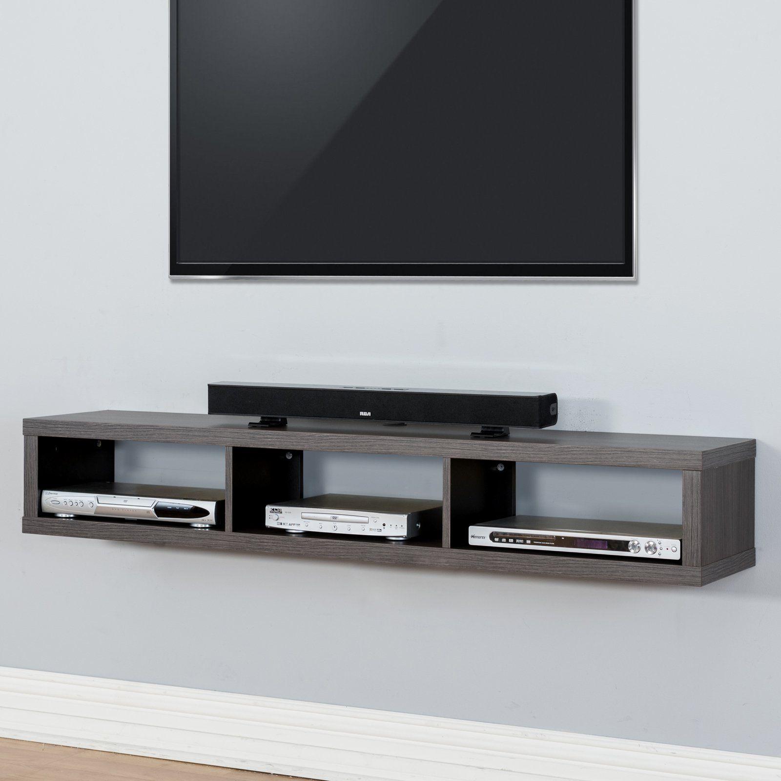 Martin Furniture Shallow Wall Mounted Tv Shelf Small