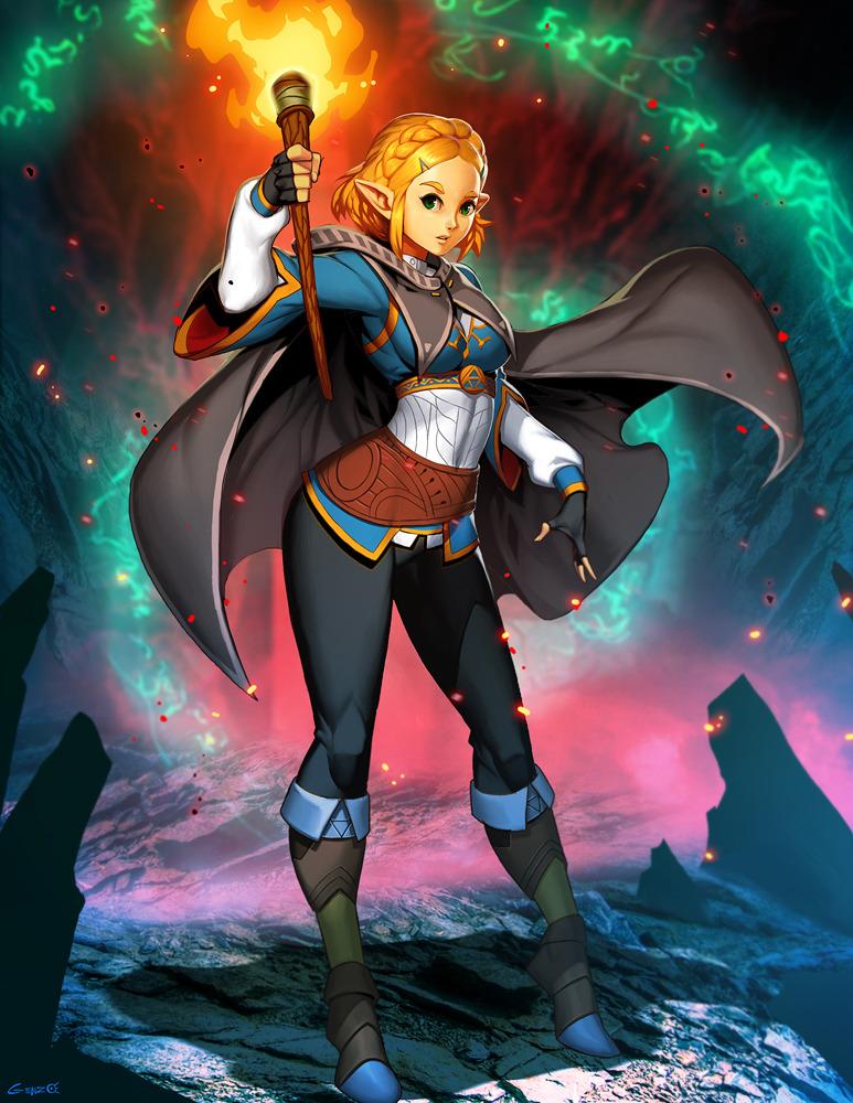 Princess Zelda Breath Of The Wild 2 Created By Gonzalo Ordonez Arias Legend Of Zelda Princess Zelda Zelda Breath