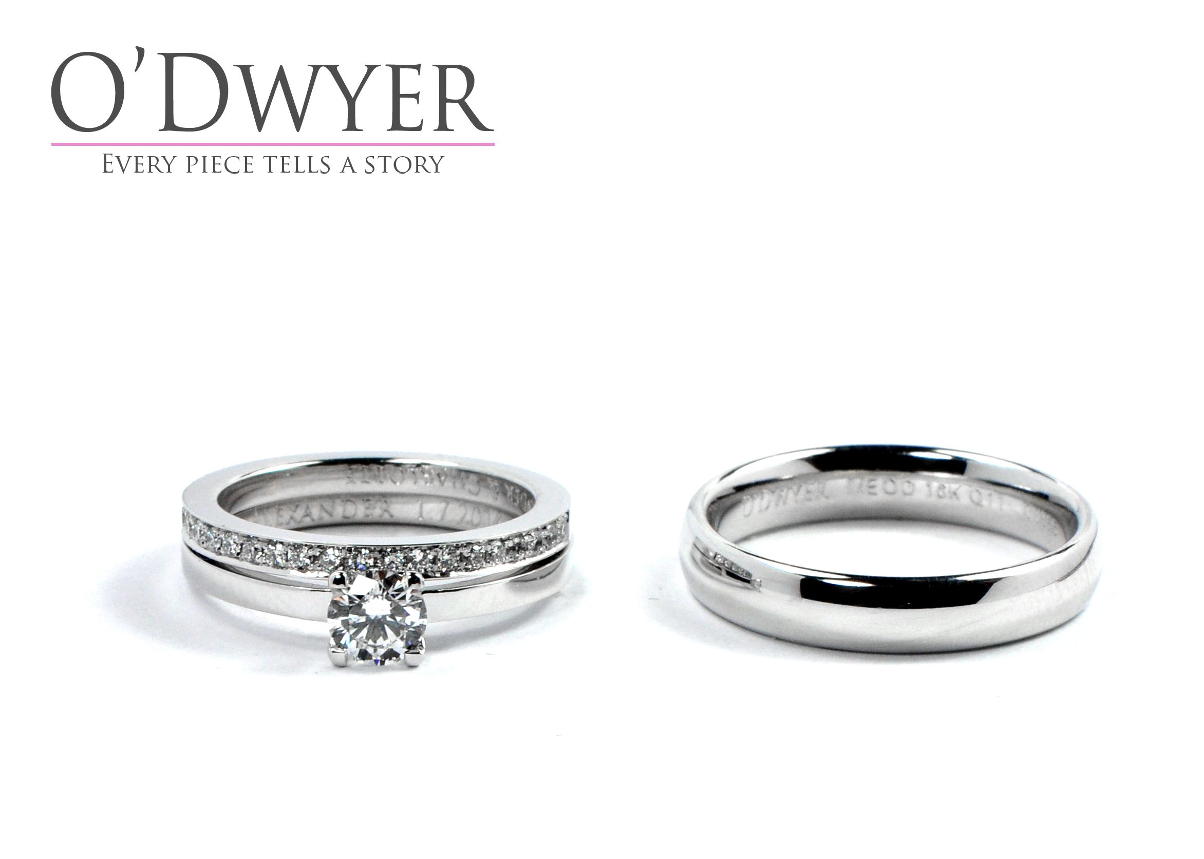 Wedding Rings 18ct White Gold Rings With Diamonds Forlovningsring Vigselring Forlovningsring Vigselring Smycken