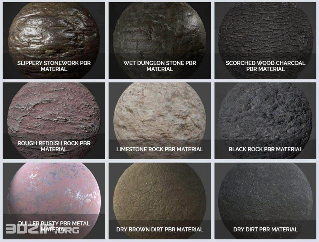 Free PBR Materials which you can download more than 70 PBR