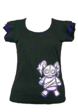 Wicked Gothic Punk Shirt By Cupcake Cult Comes With Glamorous Corset