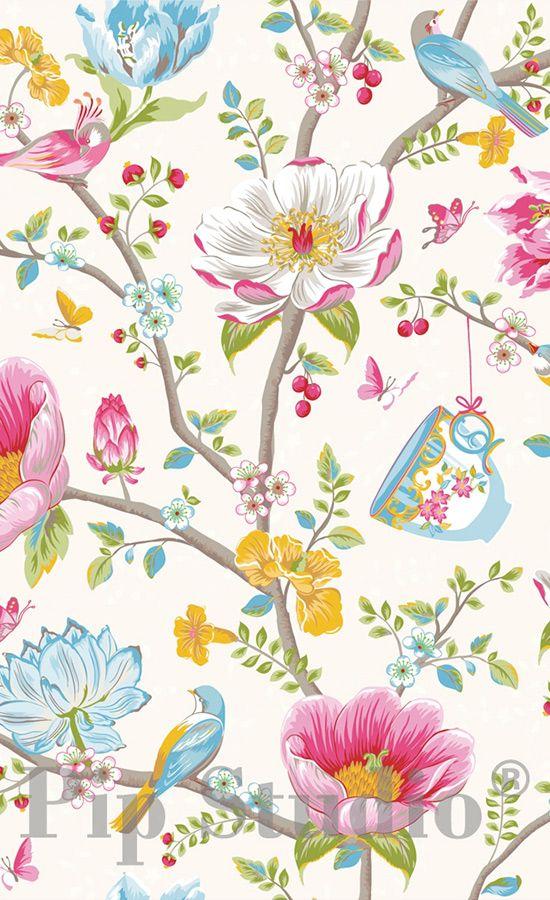 papier peint chinese garden pip studio tapisserie pinterest papier peint design papier. Black Bedroom Furniture Sets. Home Design Ideas