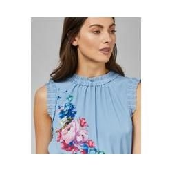 Photo of Ruffled top with raspberry ripple print and Ted Baker tie detail