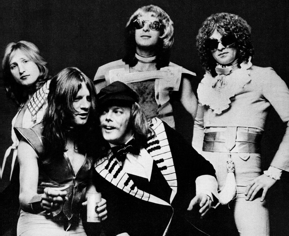 Mott The Hoople Glam Rock Group Glossy B W Music Photo Print Poster All The Young Dudes Mott The Hoople Lou Reed