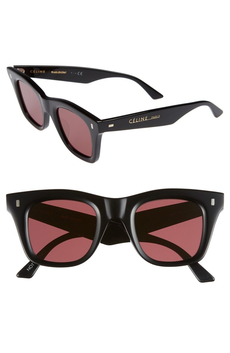 4847181ac9 Free shipping and returns on Céline 46mm Square Sunglasses at  Nordstrom.com. Thick angular frames up the retro allure of sunglasses  fitted with logo-stamped ...