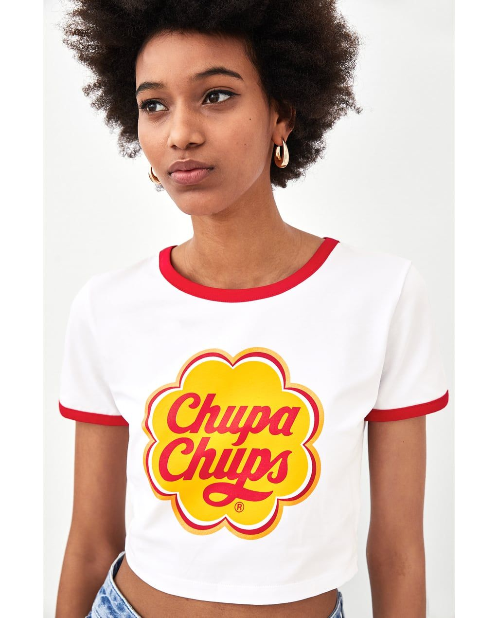 34145a95c84f20 Image 6 of CROPPED  CHUPA CHUPS  T-SHIRT from Zara