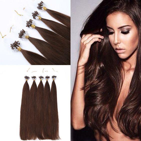 100 Remy Human Hair 16inch 50g 2 Micro Loop Human Hair