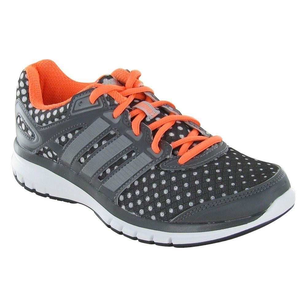 adidas duramo 6 scarpe femminili polka dot grey / arancio / bianco